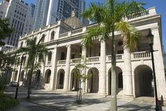 The Old Supreme Court Building exterior in Hong Kong, China. Royalty Free Stock Images