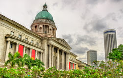 Old Supreme Court Building in Singapore. Currently it is National Art Gallery Stock Photos