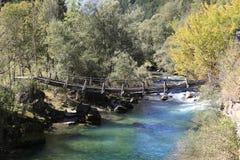 Old suspension bridge Stock Photography