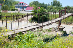 Old suspension bridge Stock Photos