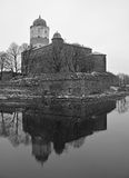 Old Sweden castle on island in Vyborg Royalty Free Stock Images