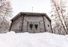 Old Swedish Barn House Royalty Free Stock Photography
