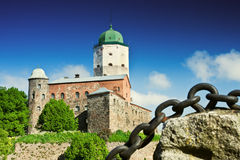 Old Swedish castle in Vyborg Royalty Free Stock Photos