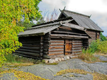 Old swedish ecological cabin Stock Photos