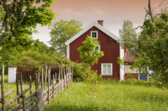 Old Swedish Farmhouse Royalty Free Stock Photography