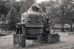 Free Old Swedish Hand Driven Bessemer Converter Stock Images - 143027844
