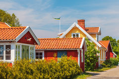 Old Swedish houses in Kristianopel Stock Image
