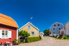 Old Swedish houses in Pataholm Royalty Free Stock Photo