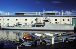 Old Swedish minesweeper HMS Bremon Stock Image