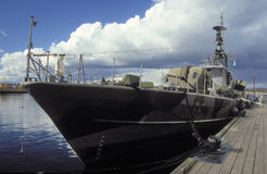 Old Swedish missile boat in Karlskrona naval museum Royalty Free Stock Photos
