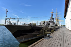 Old Swedish missile boat in Karlskrona naval museum Stock Images