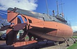 Old Swedish submarine Hajen Stock Images