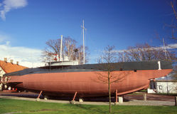 Old Swedish submarine Hajen Stock Photo