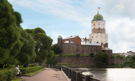 Old Swedish tower of St. Olaf Royalty Free Stock Photos