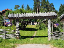 Old swedish village Fryksas. Historic building in Fryksas (Dalarna in Sweden). This little village has more than 200 shielings (so called fäbodar), some of them Stock Photography