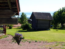Old swedish village Fryksas. Historic buildings in Fryksas (Dalarna in Sweden). This little village has more than 200 shielings (so called fäbodar), some of Royalty Free Stock Image