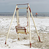 Old swing on the beach Stock Photos