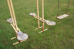 Old Swings at Deleau Royalty Free Stock Photography