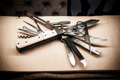 Free Old Swiss Army Knife With Multi-tools Royalty Free Stock Photos - 98626928