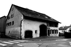 Old Swiss Barn and House Building royalty free stock image