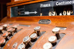 Old swiss cash register Royalty Free Stock Image