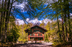 Old Swiss Chalet in Ballenberg Open air Museum, Brienz, Switzerl Royalty Free Stock Photography