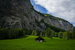 Old Swiss Chalet Stock Photography