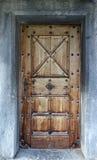 Old Swiss Church Door Stock Photography