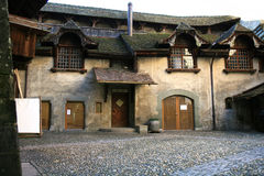 Free Old Swiss Courtyard Stock Photography - 6243892