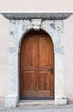 Old Swiss Door Stock Image