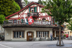 The Old Swiss House restaurant - a Landmark in the old town of L Royalty Free Stock Images