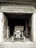 Old Swiss Tractor in Barn Royalty Free Stock Image