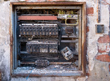 Old switchboard Royalty Free Stock Photography