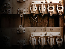 Old switchboard with fuses Stock Image