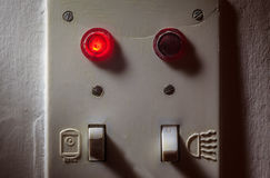 Old Switches Of Bathroom Royalty Free Stock Image