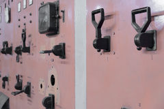 Old  switches on electric centrale Stock Photography