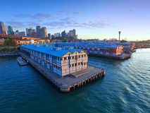 Old Sydney Pier and Wharf Aerial View Stock Images