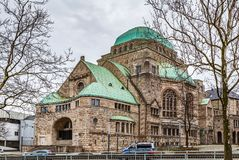 Old Synagogue, Essen, Germany. Old Synagogue is a cultural meeting center and memorial in the city of Essen in Germany royalty free stock photography