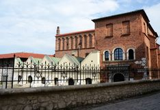 Old Synagogue or Orthodox jewish synagogue,Kazimierz,Krakow stock photography