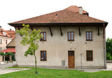 The old synagogue in Sandomierz, Poland stock photography