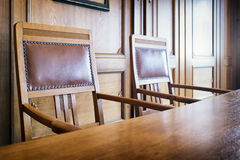Old table and chairs Royalty Free Stock Photos
