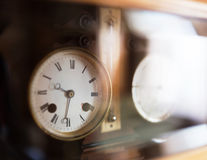 Old table clock Royalty Free Stock Images