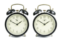 Old Table Clocks Stock Photo