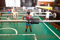 Old table football Royalty Free Stock Photos