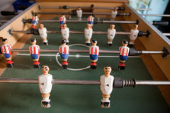 Old  table football in the pub Stock Photography
