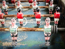 Old table soccer game Royalty Free Stock Photography