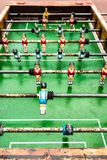 Old table soccer game Stock Photography