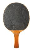 Old table tennis bat (black side) Stock Photography