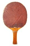 Old table tennis bat (red side) Stock Images
