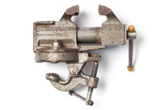 Old Table Vise Clamp Royalty Free Stock Photo
